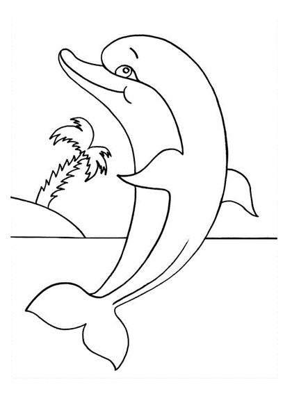 raskraska delfin 1